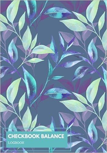 checkbook balance logbook purple floral 6 column checking account