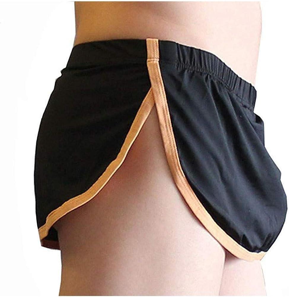 Lookme MIDNIGHT RUNNER Mesh Side Stripe Boxer Shorts Brief Underwear White XL