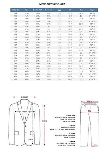 Milano Moda Men's 3 Piece Set Luxurious Wool Feel Suit HL5264 New York Brand by Milano Moda (Image #3)'
