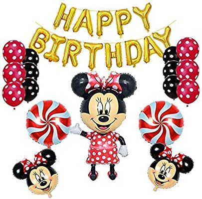 Minnie Mouse Birthday Party Supplies And Red Polka Dot 18 Pc