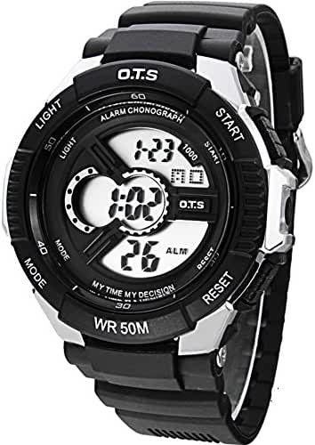 Boys trends in outdoor sports watches/Waterproof luminous creative digital watch-G