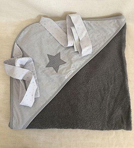 Capa de baño delantal para bebé 100% algodón, de ElfieFate® (Gris con