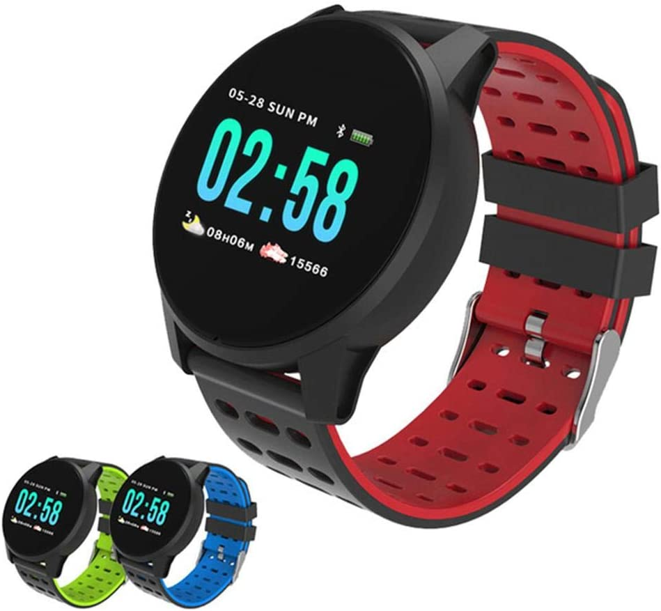 Teabelle Reloj Inteligente Monitoreo del Ritmo cardíaco Impermeable IP67 Pulsera Deportiva Bluetooth Pulsera Inteligente Compatible con Android iOS
