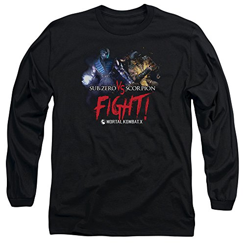 mortal-kombat-x-fighting-video-game-sub-zero-vs-scorpion-adult-long-sleeve-tee