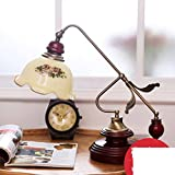 American Classic Living Room Bedroom Bedside Lamp Ornaments/Fashion Warm Flower Lamp Decoration-A