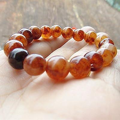 10 natural stone citrine bracelet copper crystal beaded noble men and women spar crystal bracelets