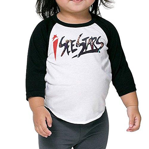 XJBD Kids Boy's&Girl's I SEE STARS LYRICS 3/4 Baseball Tee Size 3 Toddler ()