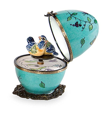 Butterfly and Bird Limoges Egg - ()