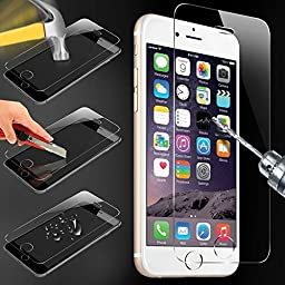Rhino Premium 9H Hardness Tempered Glass Screen Protector Cover for Apple iPhone ( 6 / 6S - 3PK)