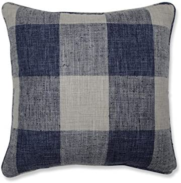 Pillow Perfect Check Please Lakeland Throw Pillow, 18-inch, Blue