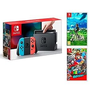Nintendo Switch 32Gb + Super Mario Odyssey + Zelda: Breath of The Wild