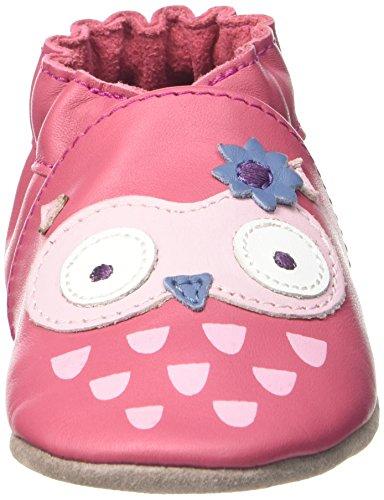 Robeez Snowy Owl - Patucos Bebé-Niños Rosa - Rose (Fuchsia)