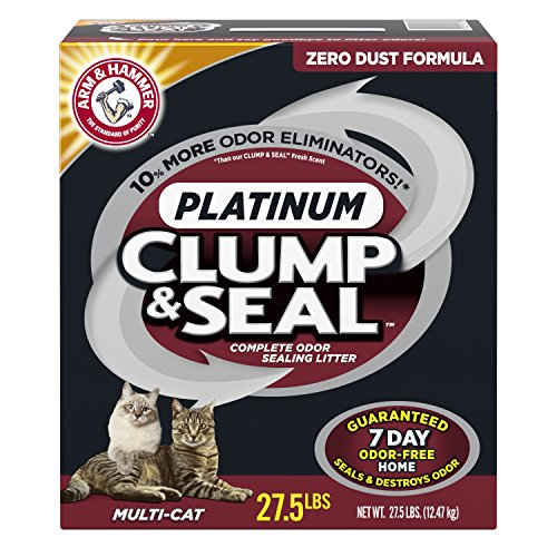 百思买 Arm & Hammer Clump Seal Platinum Litter, Multi-Cat, . Lbs