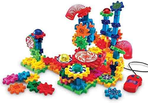 Learning Resources Gears! Gears! Gears! Lights & Action Building Set, 121 Pieces