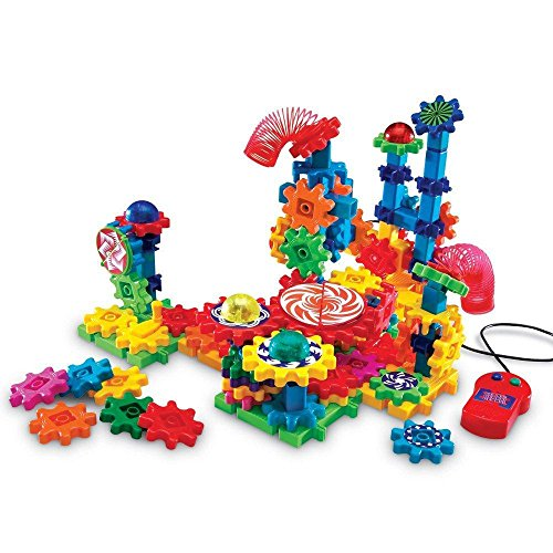 Learning Resources Gears! Gears! Gears! Lights & Action Building Set, Gear Toy, 121 Pieces -