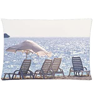 CCTUSGSH Beautiful Natural Scenery Pattern Cotton Throw Pillow Case Decorative Cushion Cover 20 X 30 Inches One Side