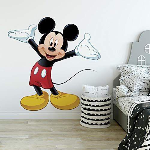 Mickey Mouse Cardboard Cutout (RoomMates Mickey Mouse Peel and Stick Giant Wall Decal -)