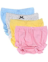 CeeDeek Baby Diaper Covers Combed Cotton Panties 4 Pack Cartoon Bloomers