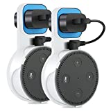 The Original Outlet Wall Mount Hanger Stand for Home Voice Assistants No Messy Wires or Screws Dot Accessories, Wall Mount Stand Holder Stand Bracket for All-New Echo Dot 2nd Generation, 2 Pack White