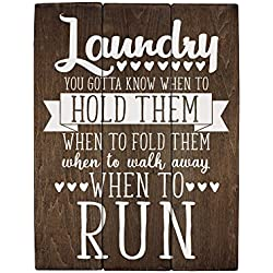 Elegant Signs Rustic Wood Laundry Room Sign You Gotta Know When to Fold Them