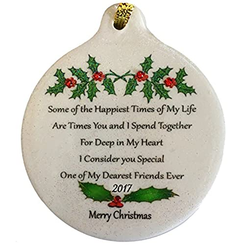 one of my dearest friends ever 2017 porcelain ornament best gift boxed rhinestone