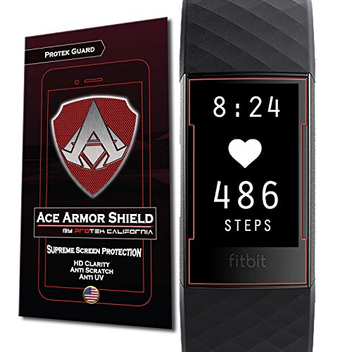 Ace Armorshield (6 Pack) Premium HD Waterproof Charger Friendly Screen Protector Compatible with Fitbit Charge 3 / Charge 3 SE