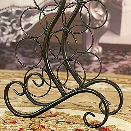 HJXSXHZ366 Estantería de Vino Wine Rack 12 la Botella de Vino en Rack Rack de Metal y Gratuito de Soporte for Suelo almacenaje del Vino Estante de Vino pequeño