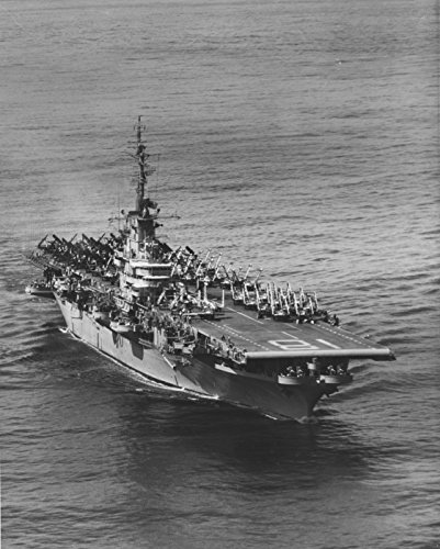 Home Comforts Laminated Poster The U.S. Navy Aircraft Carrier USS Wasp (CVA-18) at sea in The Far East on 5 January 1955, at The ti Vivid Imagery Poster Print 24 x 36