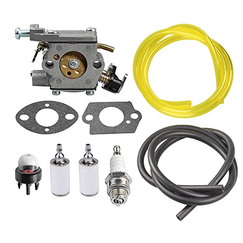 HIPA 309362003 Carburetor + Primer Bulb Fuel Line Filter for Homelite Chainsaw UT10540 UT10542 UT10544 UT10546 UT10548 UT10560 UT10566 UT10568 UT10580 UT10582 UT10584 UT10586 (Homelite Carburetor)