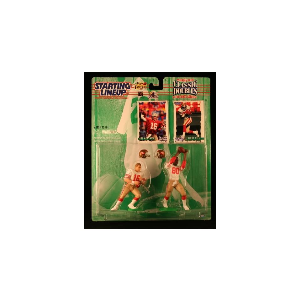 JOE MONTANA / SAN FRANCISCO 49ERS & JERRY RICE / SAN FRANCISCO 49ERS 1997 NFL Classic Doubles * Winning Pairs * Starting Lineup Action Figures & Exclusive Collector Trading Cards