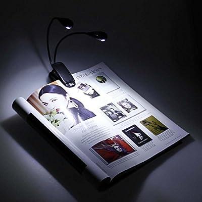 Bundle Monster 4pc Clip On Adjustable Neck LED Bright Reading Booklight Set from Bundle Monster
