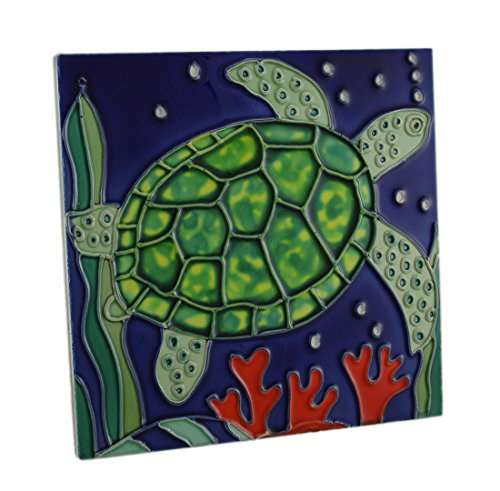 - JD 8x8 Sea Turtle Ceramic Tile Beach Nautical Decor
