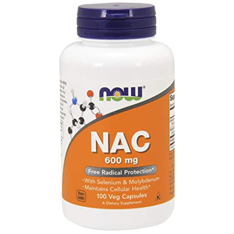 Now Foods | NAC | 600 mg | 100 cápsulas vegetarianas | sin gluten y soja
