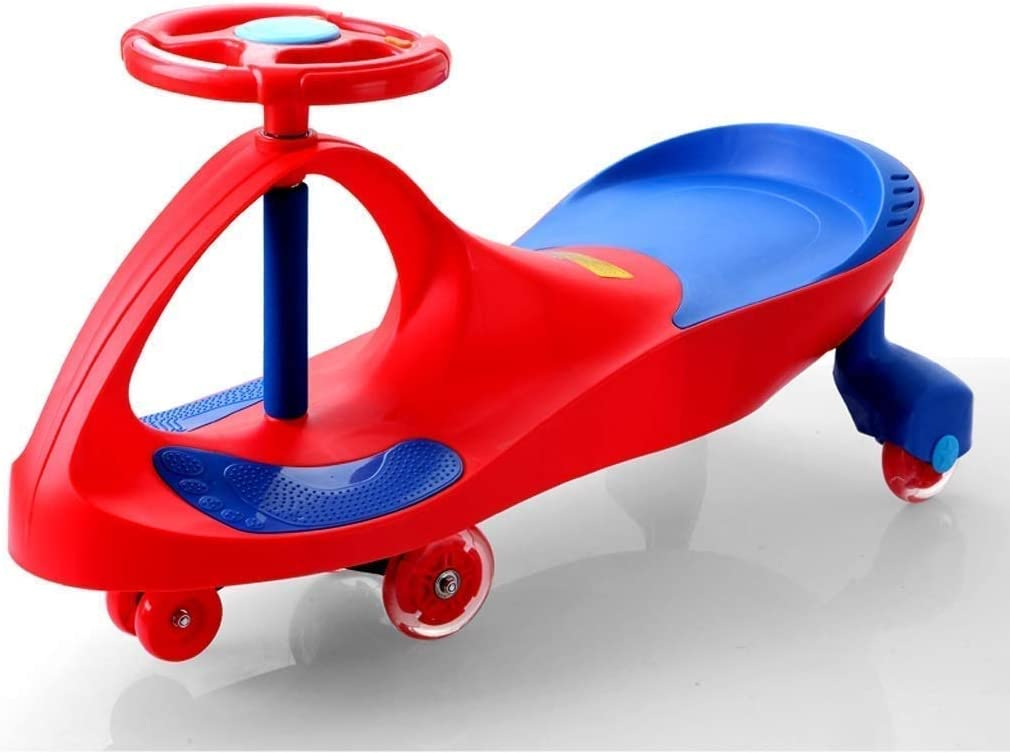 Triciclo for niños pequeños de 4 ruedas paseo en la bicicleta-Walker bicicleta de equilibrio del triciclo del bebé infantil Caminar juguetes del bebé paseo del coche 1 A 3 Años, patinete (Color: Naran