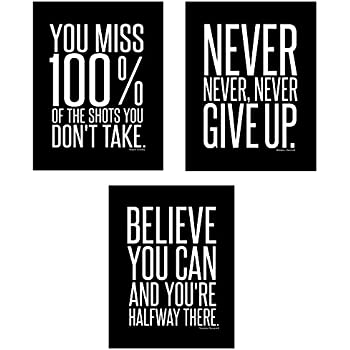 Amazoncom Dont Give Up 3 Poster Set Motivational Inspirational