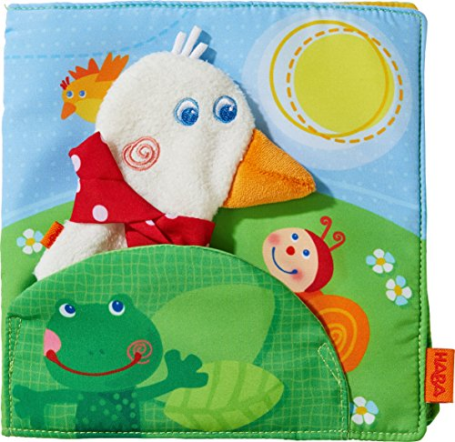 HABA Fabric Book Gallivanting Goose | Soft Book for Babies | 303152