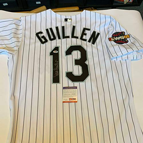 Autographed Ozzie Guillen Jersey - 2005 World Series - PSA/DNA Certified - Autographed MLB ()