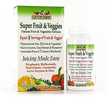 Amazon.com: Country Farms Super Fruit and Veggies Cápsulas ...