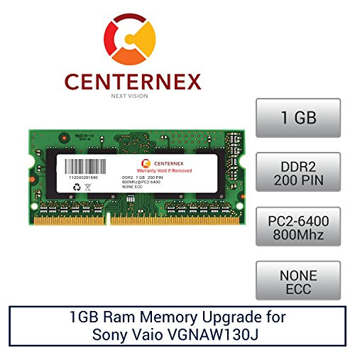 Click to buy 1GB RAM Memory for Sony Vaio VGNAW130J (DDR26400) (VGPMM1GD ) Laptop Memory Upgrade by US Seller - From only $20.9
