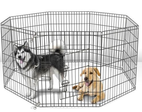 New 42 Tall Wire Fence Pet Dog Folding Exercise Yard 8 Panel Metal Play-Pen by unbrand by unbrand