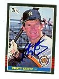 Rusty Kuntz autographed baseball card (Detroit Tigers) 1985 Donruss #516