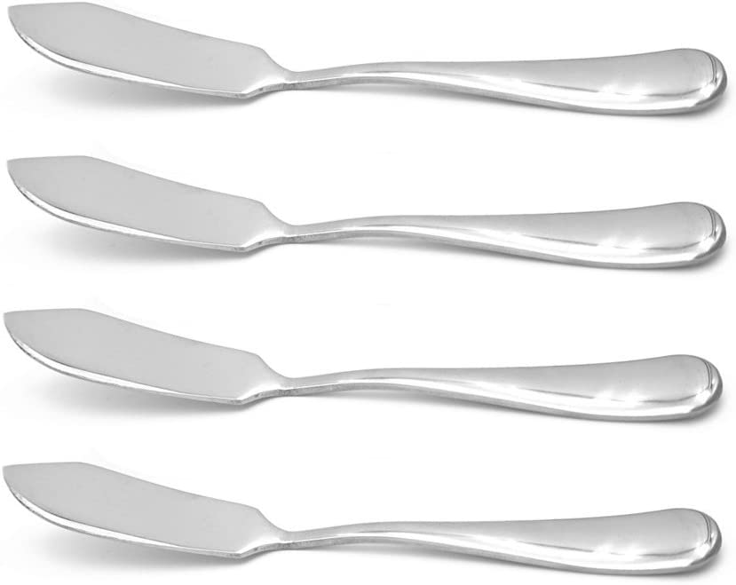 Crysto Stainless Steel Butter Knife, Set of 4, Butter Spreader, Breakfast Spreads,Cheese and Condiments