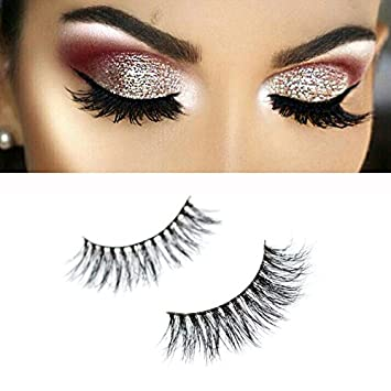 a1e1729f441 Amazon.com : Misstar Mink Lashes Volume Silk Angel Wing Natural Long Thick  False Eyelashes for Makeup Softer than Real Mink fur Lashes 1 Pair/Lot A15  : ...