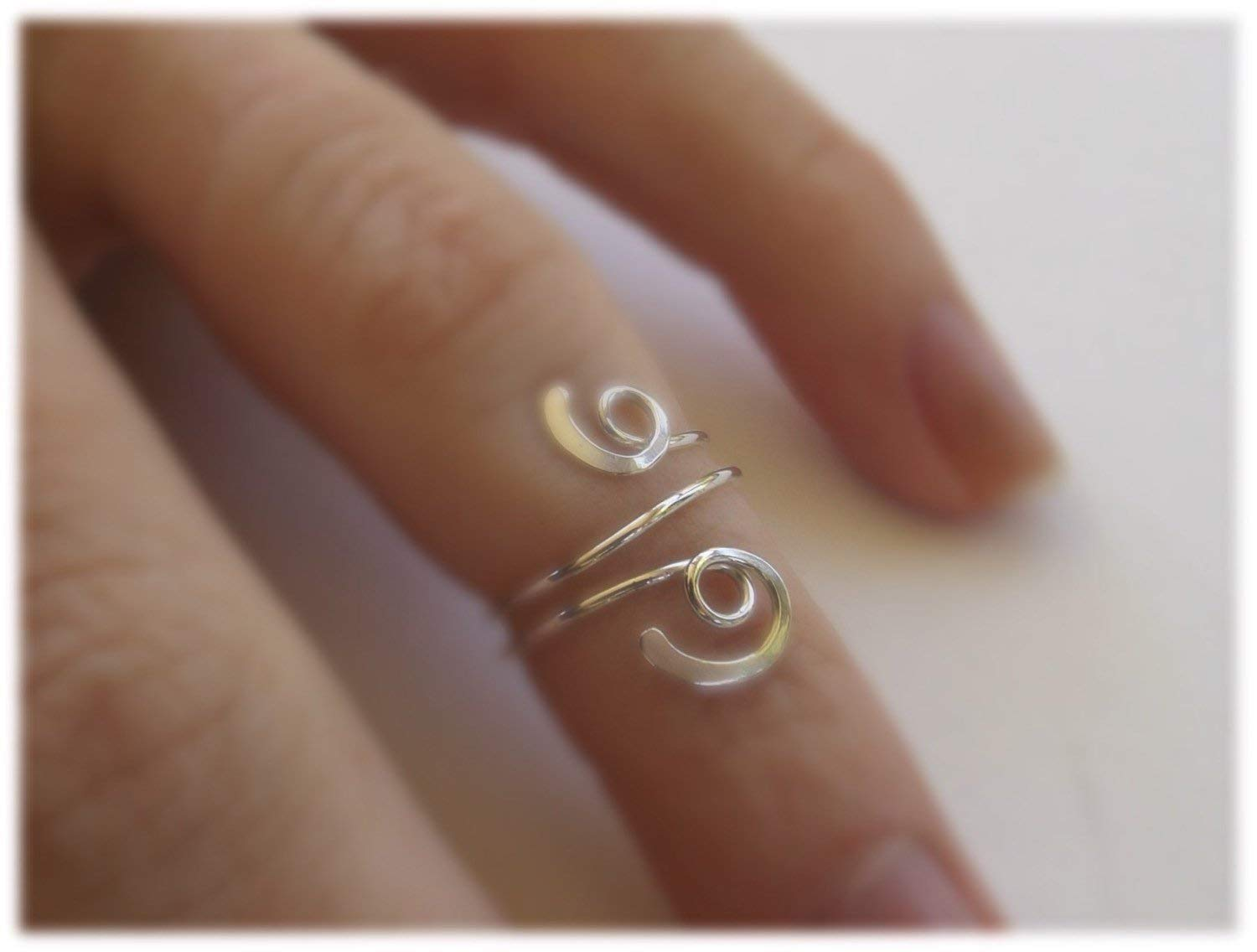 NEW! DOUBLE SWIRLS Artisan Toe Ring in SOLID 925 Sterling Silver