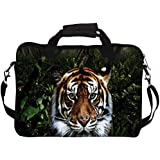 "Snoogg Jungle Tiger Laptop Netbook Computer Tablet PC Shoulder Case Carrying Sleeve Bag Holder For Apple iPad/ Hp Touchpad Mini 210/Acer Aspire One And Most 9.7"" 10"" 10.1"" 10.2"" Inch Netbook Tablet PC"