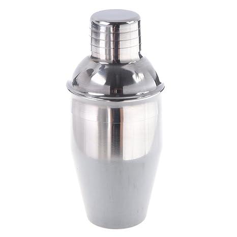 SODIAL(R) Coctelera Mezcladora de Bebidas Acero Inoxidable Accesorio de Bar - 250ml