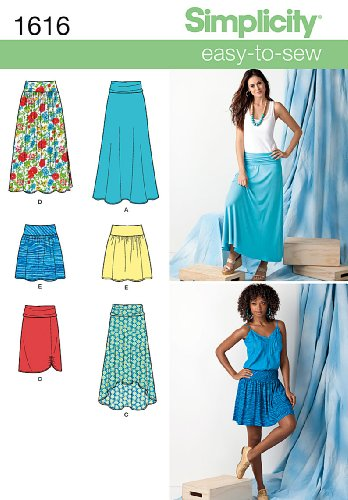 SIMPLICITY 1616 MISSES SKIRTS (6 EASY-TO-SEW) SIZE 14-22 - SEWING PATTERN