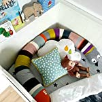 HILTOW-Snake-Shaped-Baby-Crib-Bumper-71-inch-Crib-BumperCrib-PillowJunior-Bed-Sleep-Bumper-Multicolored-Your-Childs-Multi-Purpose-Friend-and-Protector