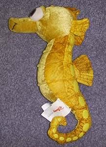 "Rare Disney Finding Nemo Sea Horse Sheldon 10"" Plush Bean Bag Doll"