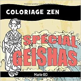 Coloriage Adulte Geisha.Coloriage Zen Special Geishas Activite Anti Stress Pour